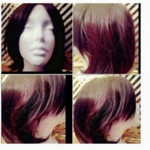 Accessories - Brown Red Hair Extension Wig with Bangs 15-Inch